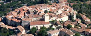 vue aérienne village de Ramatuelle