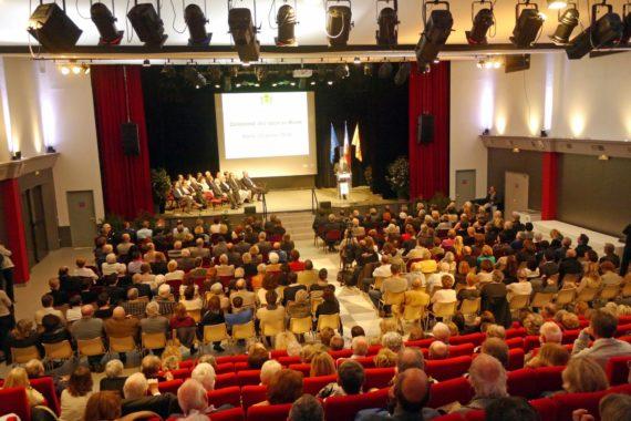 Beaucoup de monde à l'Espace Albert-Raphael pour assister à la traditionnelle cérémonie des voeux.