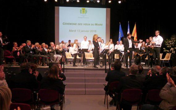 Guillaume Dallara et l'orchestre d'harmonie du Conservatoire Rostropovitch-Landowski ont présenté quatre morceaux arrangés pour cette formation intercommunale et intergénérationnelle.